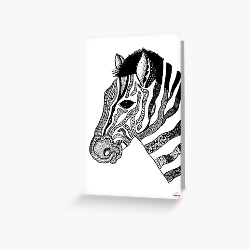 Oreo the Zabra Greeting Card