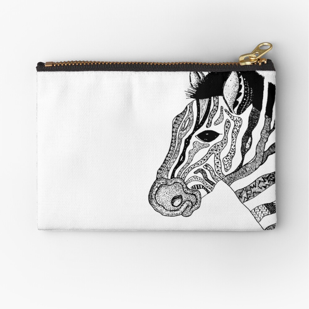 Oreo the Zabra Zipper Pouch