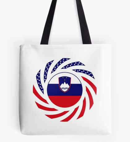 Slovenian American Multinational Patriot Flag Series Tote Bag