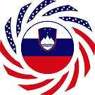 Slovenian American Multinational Patriot Flag Series by Carbon-Fibre Media