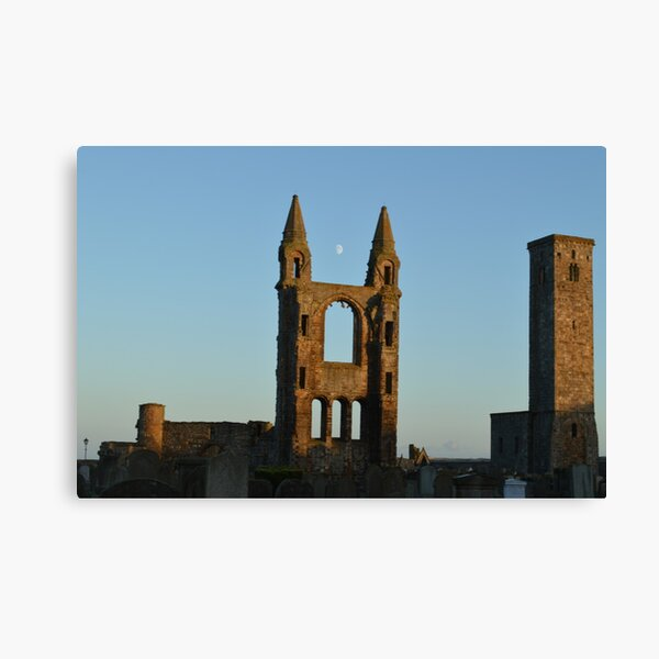 Moon Over St Andrews Cathedral Canvas Print