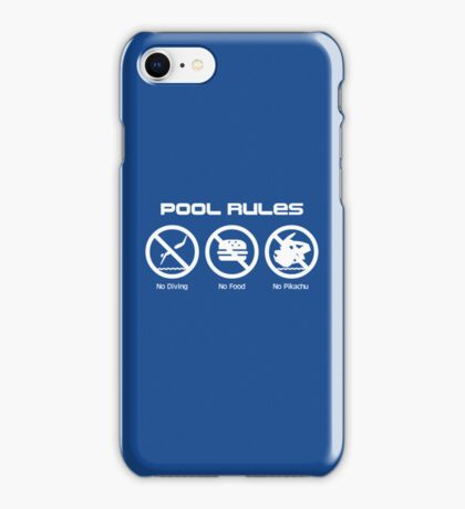 Pool Rules iPhone Case/Skin