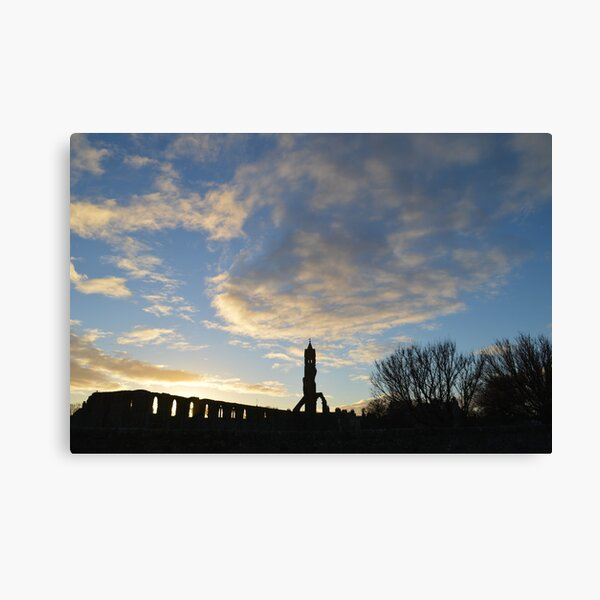 Swirling Clouds Over St Andrews Cathedral Canvas Print