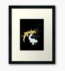 Cosmic Reptiles Framed Print