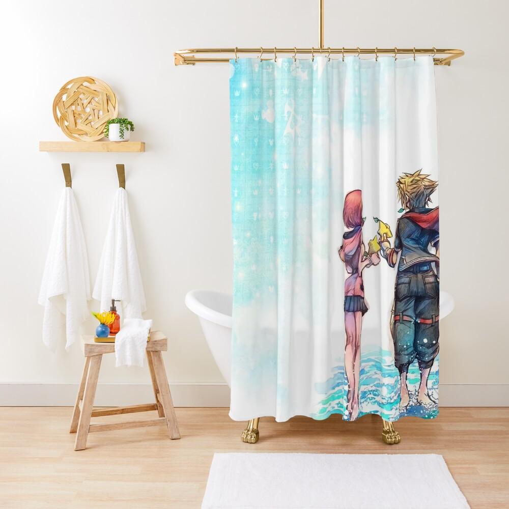 Kingdom Hearts 3 Re:Mind - Title Screen Art Shower Curtain