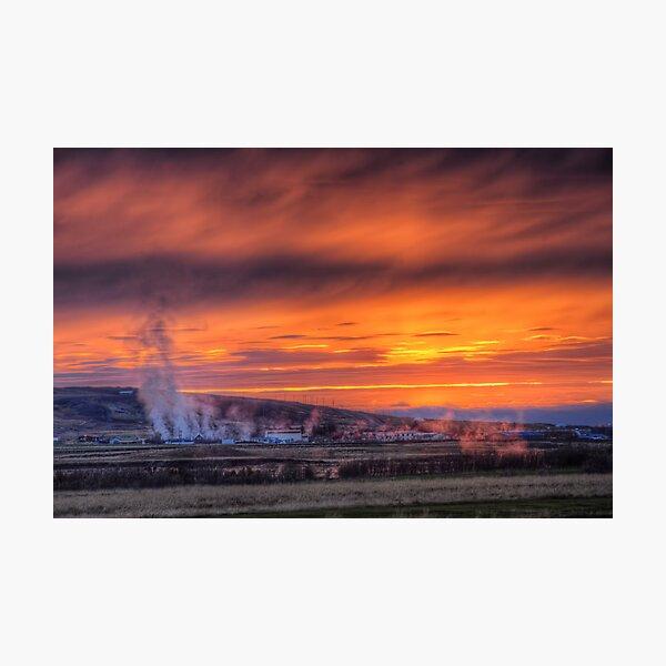 Steam Vents Photographic Print