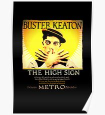 Buster Keaton - The High Sign Poster