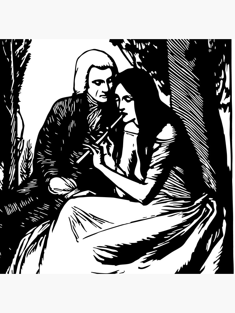 «Gravure romantique, noir et blanc» par RosaLeeDesign
