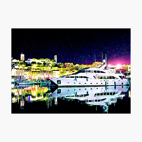Cannes Harbor, France - Fine Art Collection Photographic Print