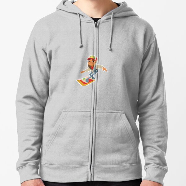 Jake from Subway Surfers Zipped Hoodie