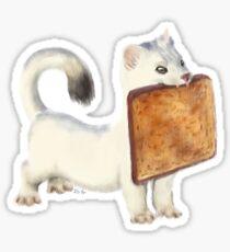 Pegatina Comadreja tostada