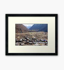 Samdo - 3900 metres Framed Print