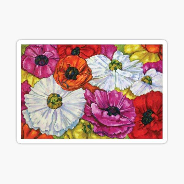 Colorful Ranunculus Buttercup Flowers  Sticker