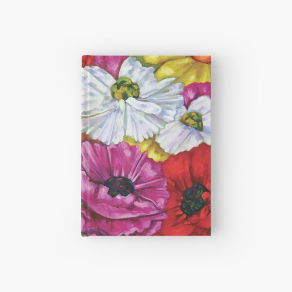 Colorful Ranunculus Buttercup Flowers  Hardcover Journal