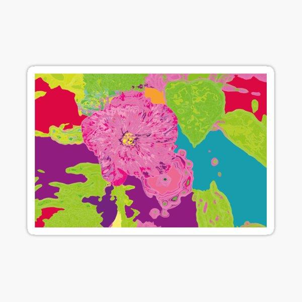 Alcea Rosea Sticker
