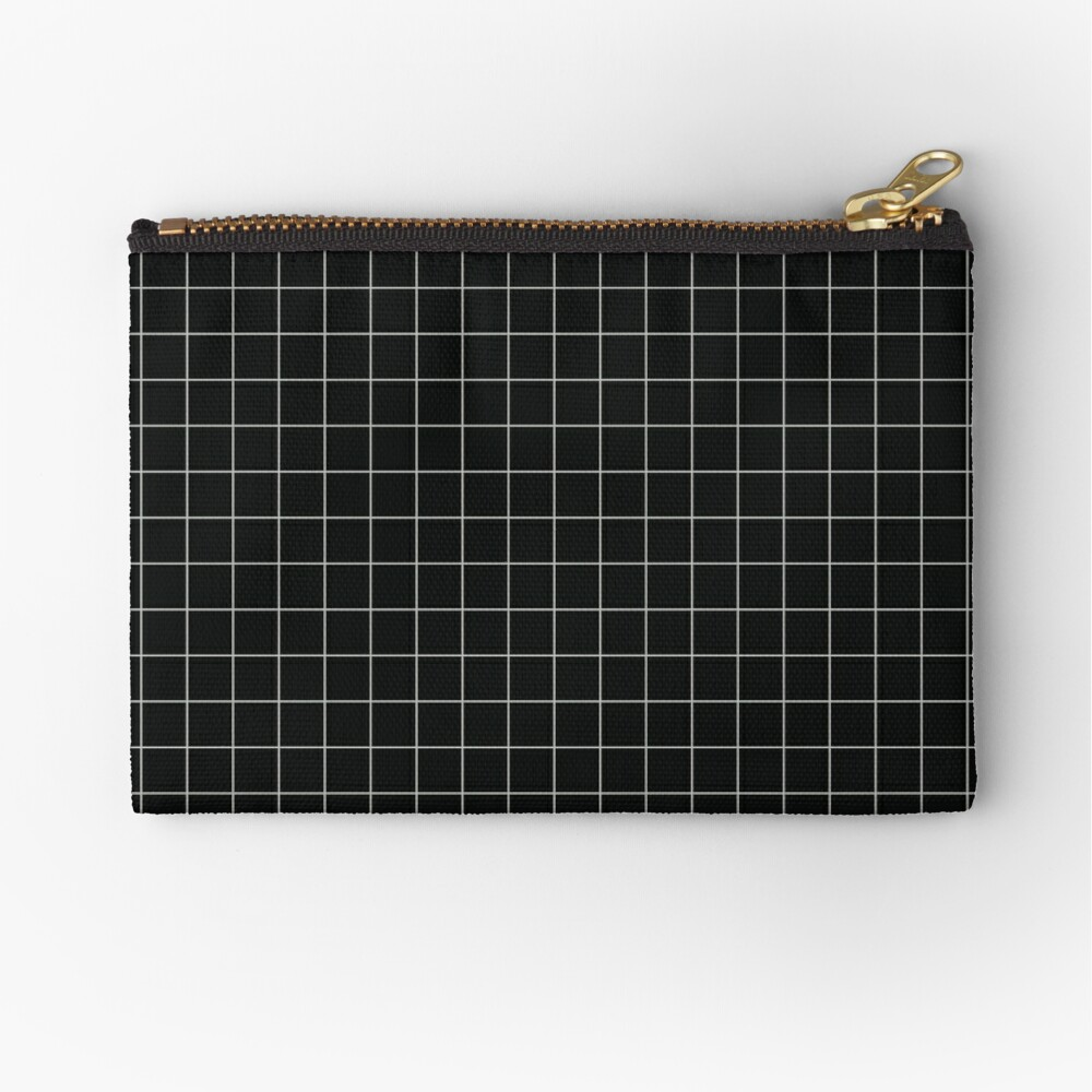 Aesthetic Grid - Black Zipper Pouch
