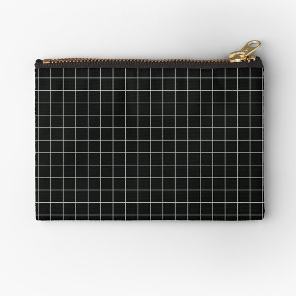 Aesthetic Grid - Black Zipper Pouch