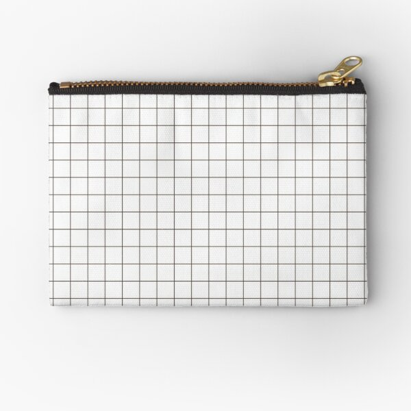 Aesthetic Grid - White Zipper Pouch