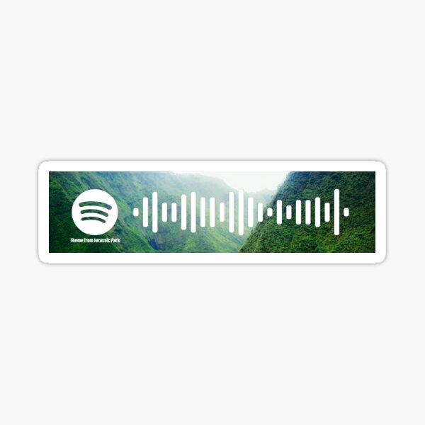 Tema de Jurassic Park - código de Spotify Pegatina