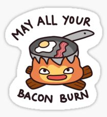 Calcifer May All Your Bacon Burn Sticker