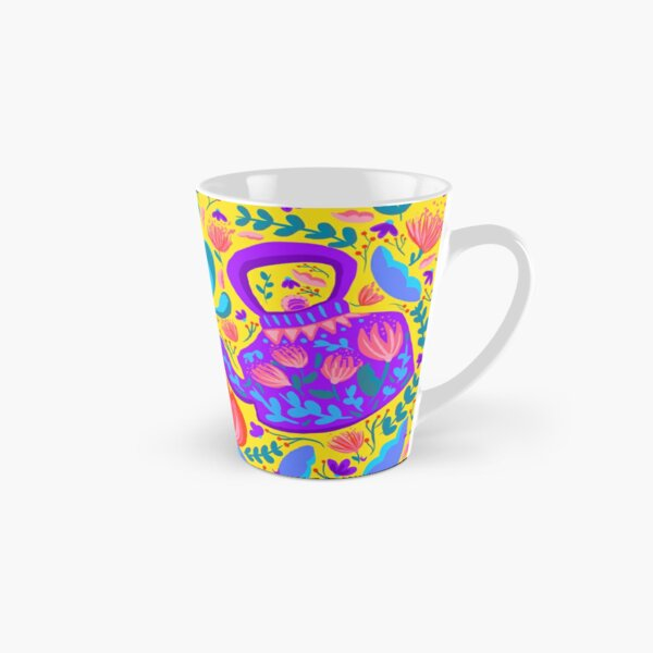 Kettles with flowers  Tall Mug