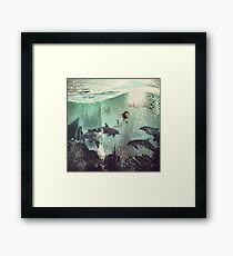 The Sea Unicorn Lady Framed Print