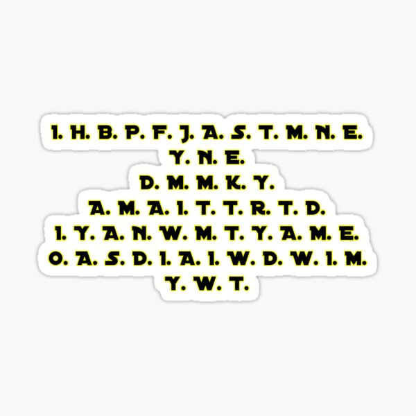 Revenge of the Sith Sticker
