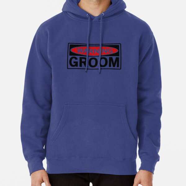 Groom Handcuffs Men Printed Pullover Long Sleeve Hooded Red Sweatshirts with Pockets