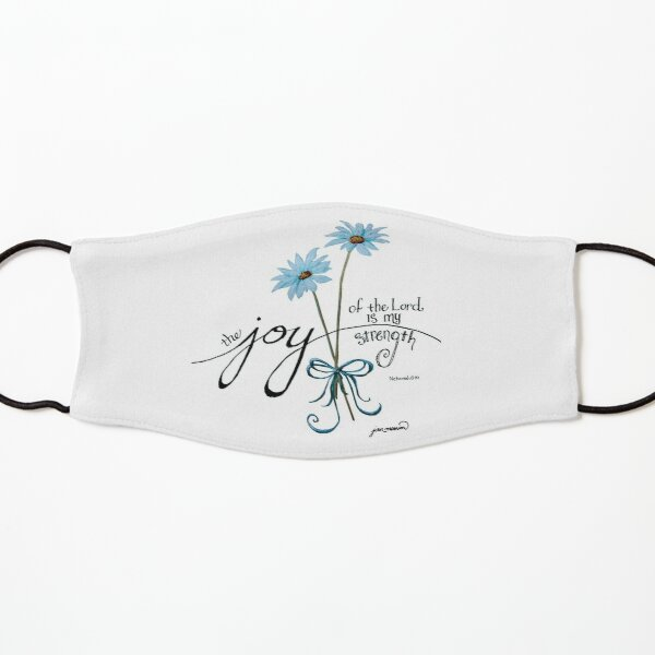 The Joy of the Lord is my Strength Blue Daisies Kids Mask