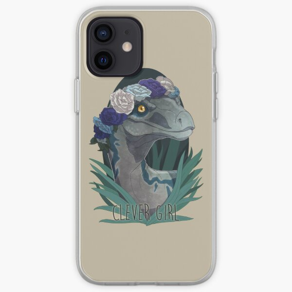 Clever Girl - Blue iPhone Soft Case