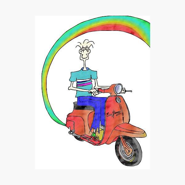 Lambretta mods mod scooter brighton noël noël carte