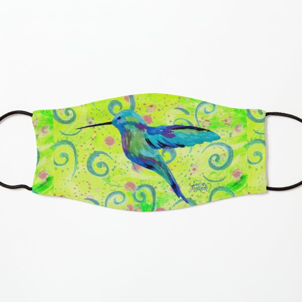 Hummingbird and Swirls Kids Mask