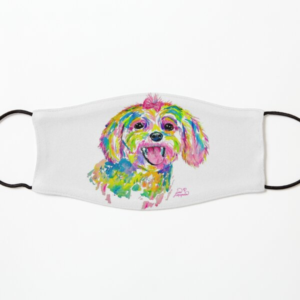 Maltese or Bichon Frise painting Kids Mask