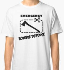 Emergency Zombie Defense Classic T-Shirt
