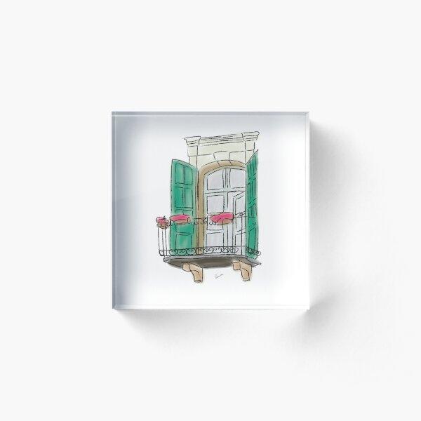Beirut Windows #3 Acrylic Block