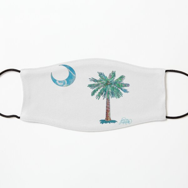 Palmetto Tree and Moon by Jan Marvin Kids Mask