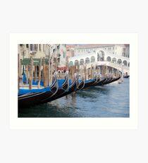 Venice's gondolas  Art Print