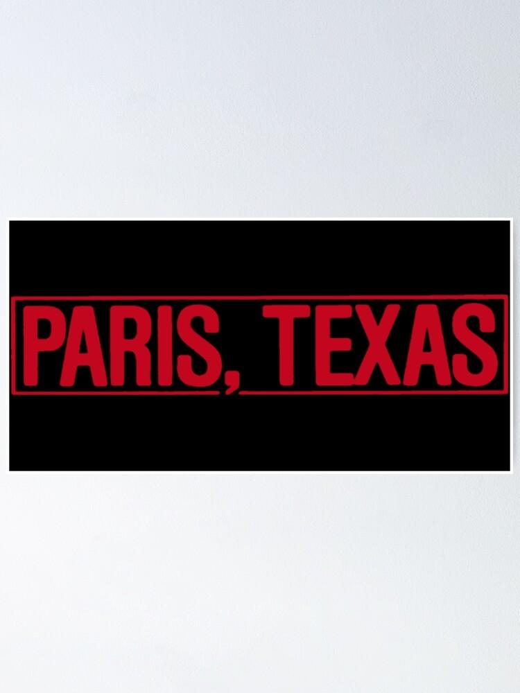 Alternate view of Paris, Texas Poster