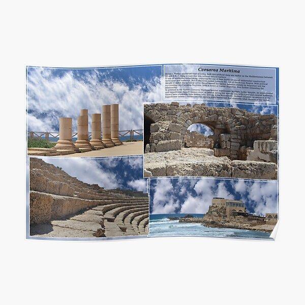 Caesarea Maritima, aka Caesarea Palestinae, Israel Poster