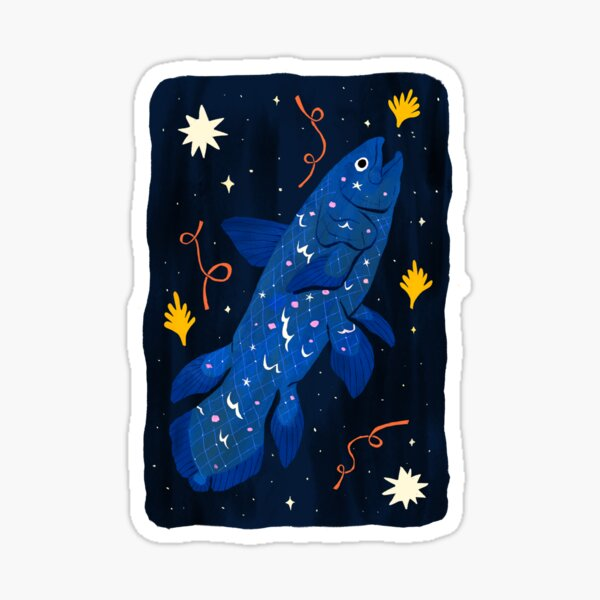 Starry Coelacanth Sticker