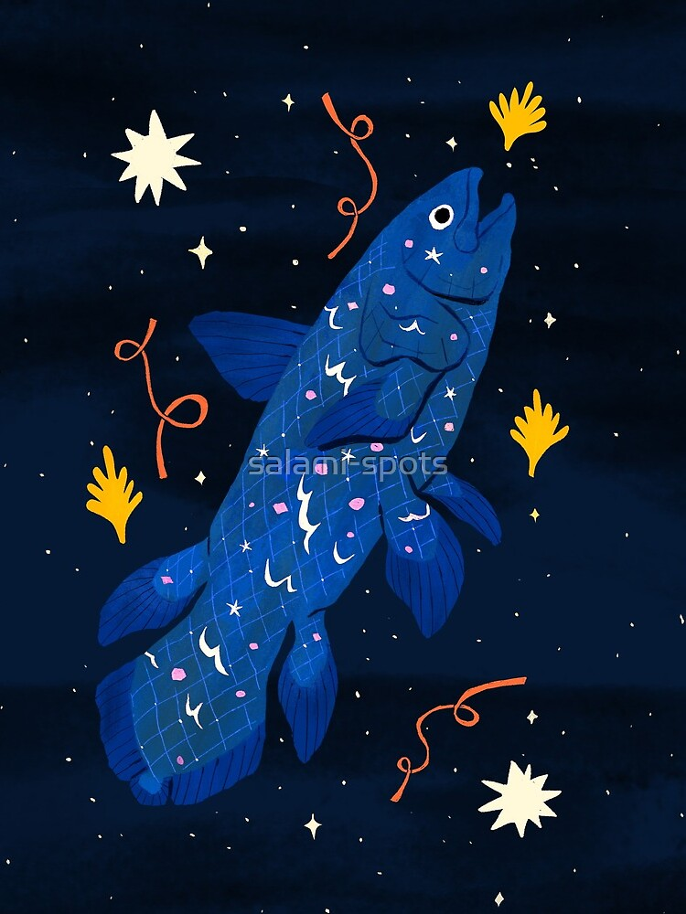 Starry Coelacanth by salami-spots