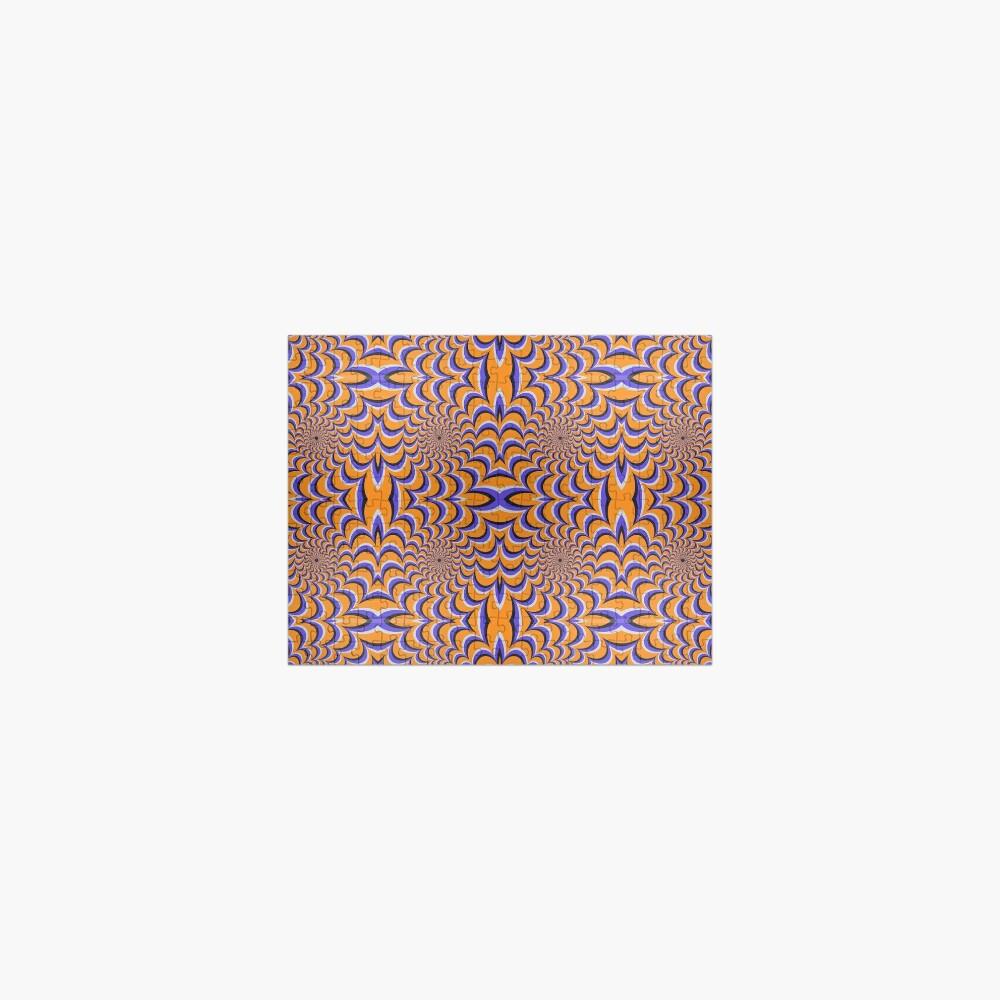 Optical illusion ellipse swirl Jigsaw Puzzle
