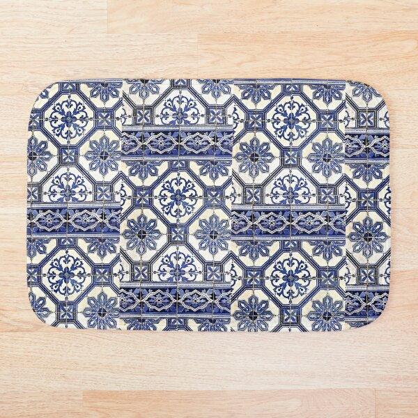 Portugal Tile Number Seven Bath Mat