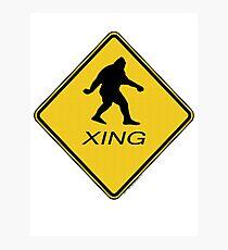 Bigfoot Crossing Sign  Photographic Print