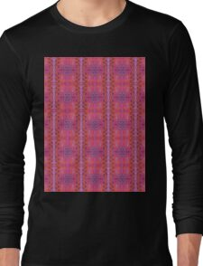 purple and blue square spirals Long Sleeve T-Shirt