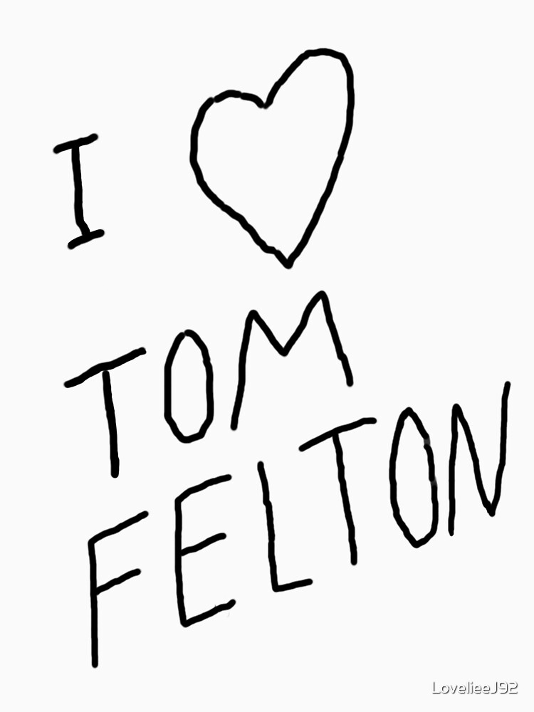 """I  Tom Felton"" replica tee 