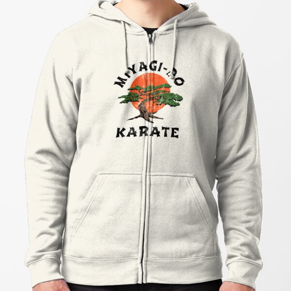 Miyagi Do Karate (distressed) Zipped Hoodie
