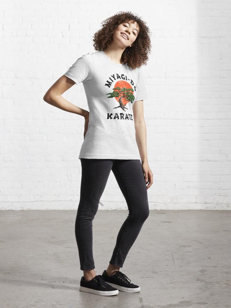 Alternate view of Miyagi Do Karate (distressed) Essential T-Shirt