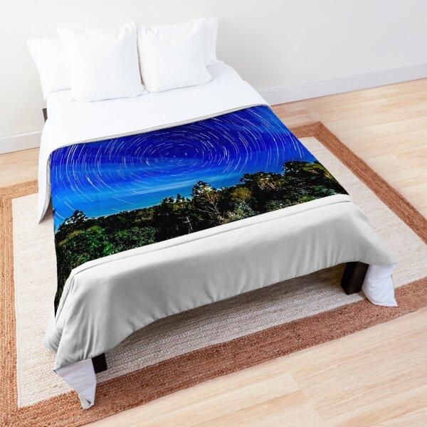 Star Trails - Lake Kissimmee State Park, Florida Comforter
