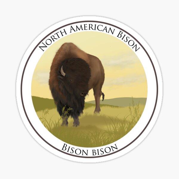 North American Bison Badge Sticker